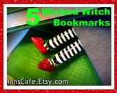 Set of 5 Wicked Witch Bookmarks