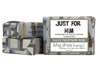 Just For Him Handmade Olive Oil Soap with Shea Butter