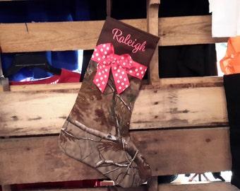Christmas stocking// Personalized Christmas stocking//handmade Christmas stocking//camo Christmas stocking
