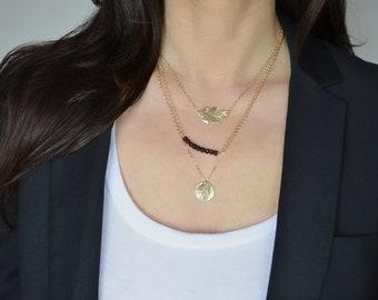 Oak Leaf Necklace - Gold or Silver