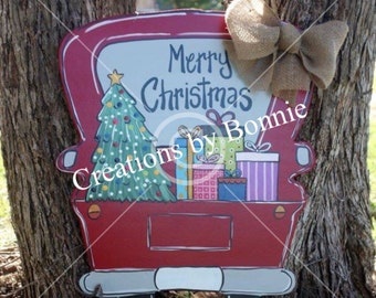Merry Christmas Truck with tree and presents