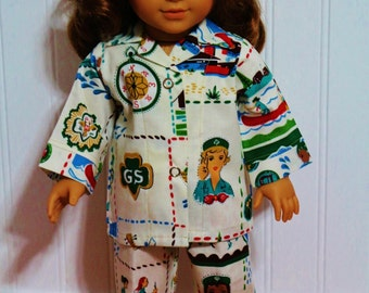 """SCOUT Pajamas Doll Clothes Fit 18"""" Dolls - PROUDLY Made in America"""