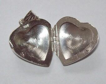 1980s Sterling Silver Locket Heart