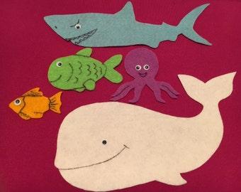 Slippery Fish Song Flannel Felt Story/Preschool//Language