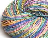 Chunky two-ply rainbow yarn, hand painted in merino wool - 150 yards, 4 ounces/ 115 grams