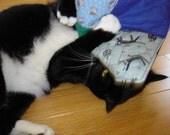 Catnip toy, organic catnip mat, quilted mat toy, cat gift under 15, catnip blanket, bright colorful