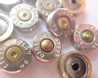 45 caliber silver bullet casing cabochon lot of 12