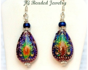 Mood Earrings, Color Changing Beaded Mood Jewelry, Unique Colorful Earrings