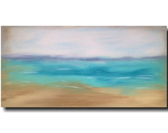 Large painting- 24 X 48 Inches-by Artist JMJartstudio- Calling Me   -Wall art-wall decor- painting-beach painting