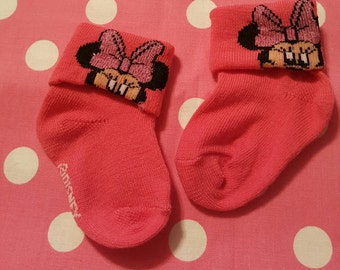 Minnie Mouse Hot Pink Footies