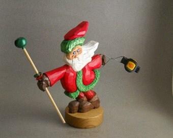 Santa figure in the wind