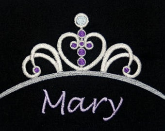 Disney's Sopfia the First inspired t-shirt w embroidered Sophia Princess Tiara and personalized w your name - perfect for Disney fans