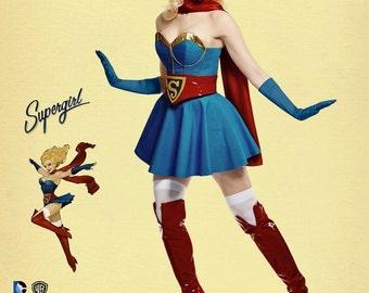 DC Comics Bombshell Supergirl Pattern, Super Hero Costume Pattern, Simplicity Sewing Pattern 8185