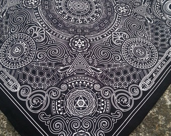 Arcana Bandana - Black and White