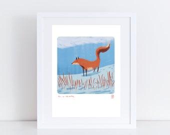 Fox iPad Painting - Signed Print