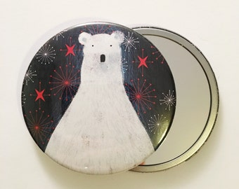 Polar Bear - Pocket Mirror