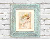 Romantic Cherub/Angel Instant Download Antique Art Printable 8x10