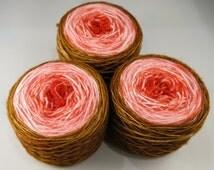 Cherry Cordial hand painted yarn - hand dyed 4 ply sock wool / sock yarn / indie dyer / ooak yarn / valentine yarn chocolate covered cherry