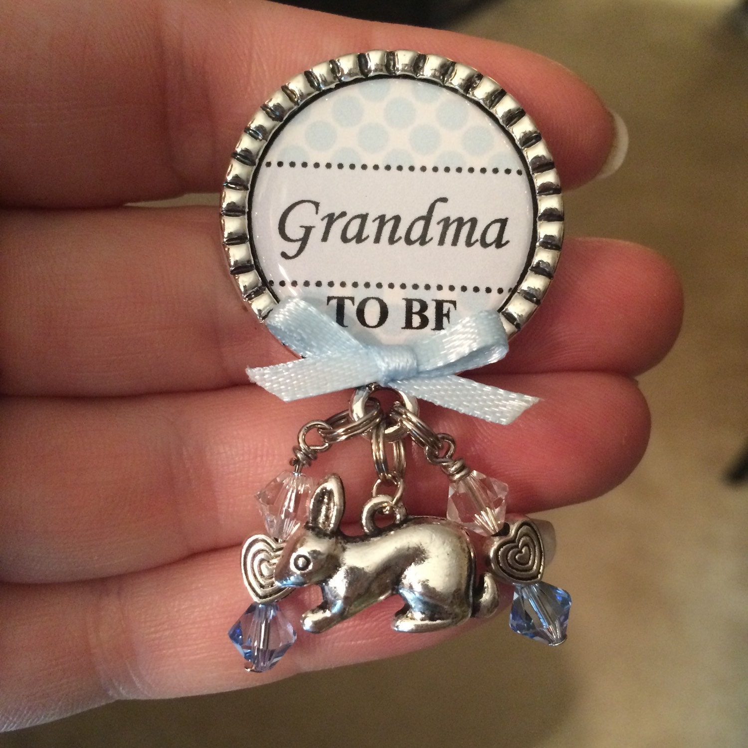 Baby Gift From Grandma : Grandma to be pin personalized gift baby shower first