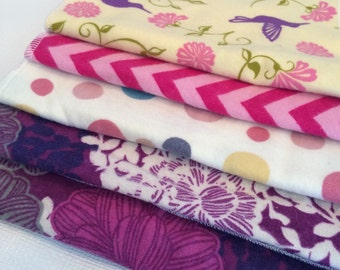 5 pack Burp Cloths