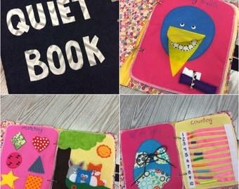 Quiet book - Girl theme