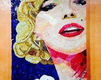 Dreaming on the last mile home ... Marilyn Monroe Mosaic Art