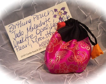 Birthing Energy Pouch with 7 Natural Stones FREE SHIPPING