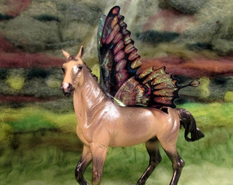 Butterfly Fairy winged horse custom