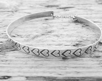 Sterling Silver Cuff Bracelet, Can be Personalised with Message inside, Handmade in the UK, Gift for Her, 18th, 21st, 30th, 40th Birthday