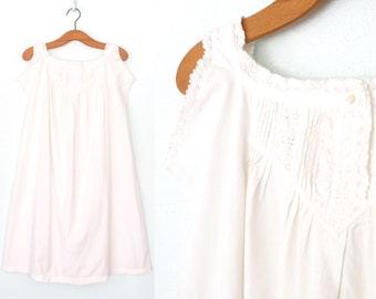 Antique Chemise Dress * Petticoat Slip Dress * Edwardian Dress * Small