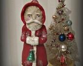 Santa Claus - Belsnickel - paper mache - folk art -hand made doll - Christmas
