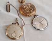 Watches  3 Three beautiful pocket watches jewelry parts collectable not working