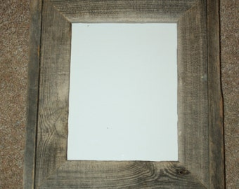 Barnwood Picture Frame - 8 x 10 - Fencewood - Recycled