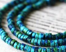 SALE Mykonos Beads - Seed Beads - Jewelry Making Supply - Mykonos Ceramic Beads - Choose Your Amount - Aegean Mix