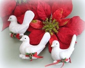 Christmas Ornament Christmas Bird Ornament Christmas Tree Ornament Vintage Bird Decor Victorian Ornament White Bird Decoration Dove Ornament