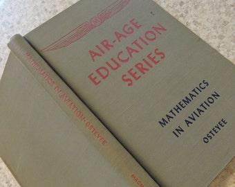 Vintage MATH BOOK Aviation Math World War II era Air Age Education series