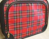 Suitcase , Soft Suitcase , Luggage , Plaid Suitcase , Suit Case , Red Plaid , Travel Case , Storage , Organization , Travel , Vacation ,Case