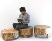 Coffee Table Stump Trio Modular Modern Organic Grouping