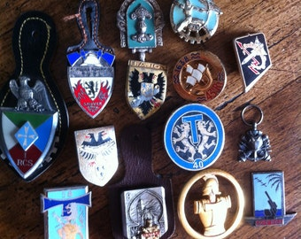 Vintage Aviation ~ set of 14 ~ french aviation medals - medaillons - europe collectibles air force