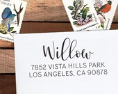 Custom Address Stamp, Personalized Address Stamp, Calligraphy Stamp, Wedding Address Stamp, Eco Mount or Self Inking - Willow