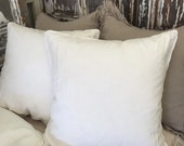 Pure Linen Euro Shams with Crochet trim