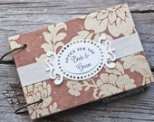 Advice Cards, Advice for the Bride and Groom, Book with Removable Pages, Tea Stained Floral {Ready to Ship}
