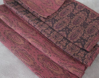 place mats and Napkins Salmon and Salmon Pink-4 pcs