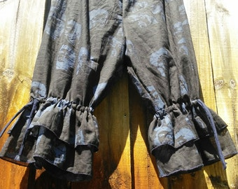 Blue Pirate Knee Length Womens Bloomers Sz M ready to ship