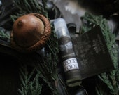Into the Woods Natural Perfume Oil  Sample Vial Creosote, Frankincense, Vanilla,Labdanum, Patchouli,  Cedarwood