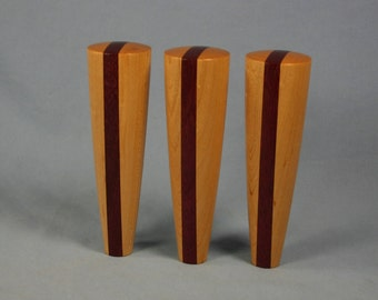 Wood Beer Tap Handle Set of Three - 5.5 inches tall - IN STOCK