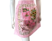 Vintage 1950s Pink California State Apron Never Worn Tags Attached