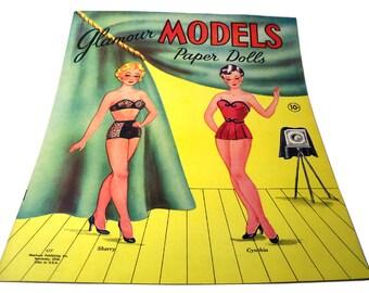 Vintage 1950s Glamour Models Paper Dolls Stephens Publishing Ohio #177