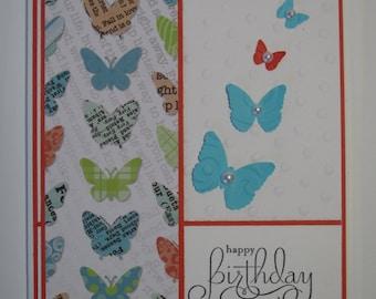Happy Birthday Butterfly handmade card