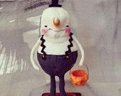 Ooak, Spun Cotton, Candy Corn, Man, Halloween, Art, Figure